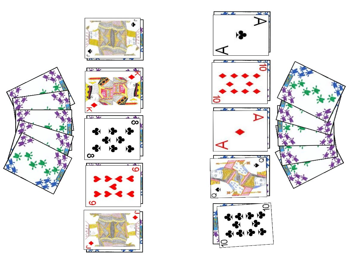 Sath-Aath card game layout