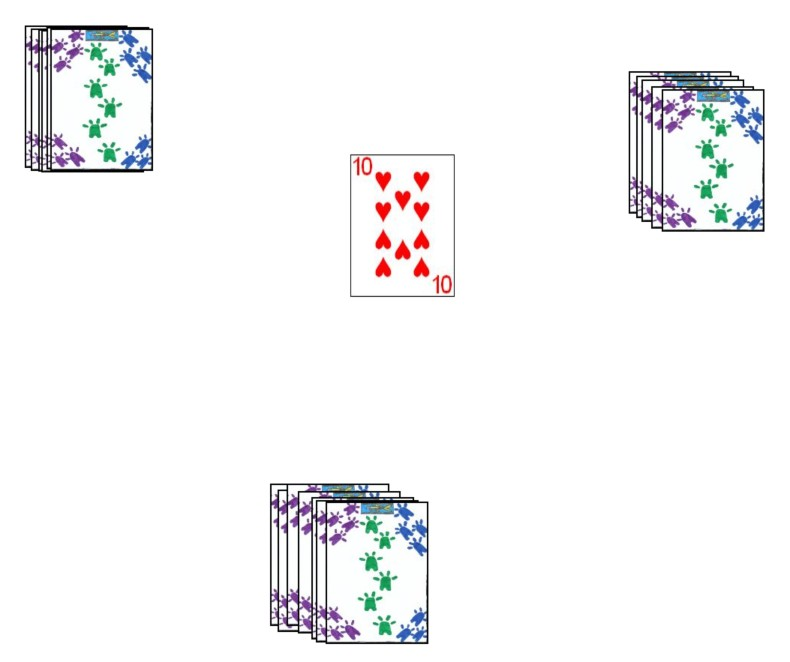 With three players the last card is dealt to the center