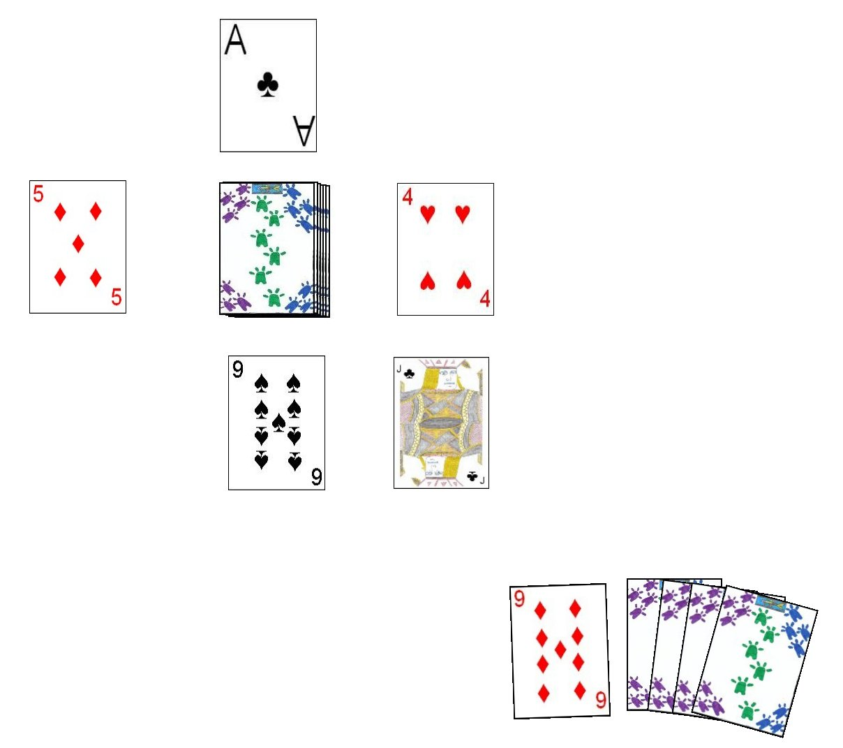 Chinese Go Fish Layout