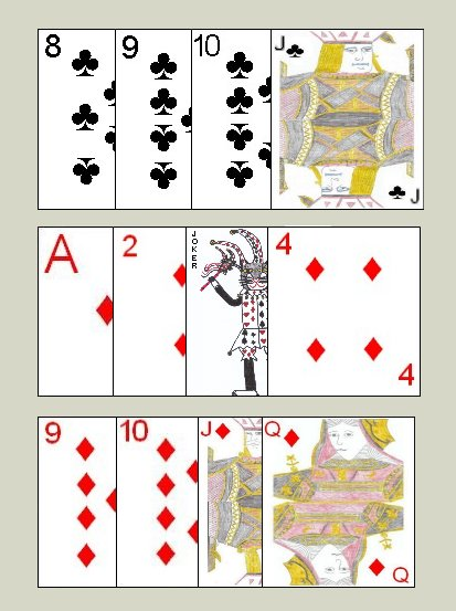 Example of Contract Rummy Seventh meld