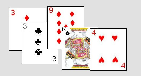 Cribbage Hand Example