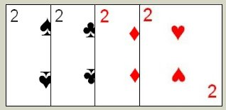 Twos are often used as a wild card in some variations of Contract Rummy