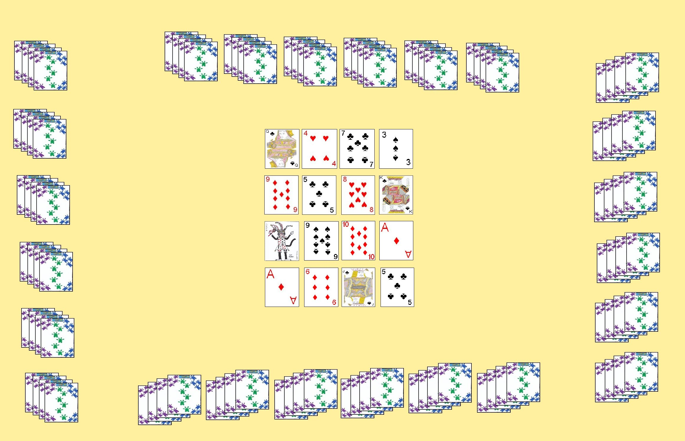 Layout for the Double Deck variation of Lemon
