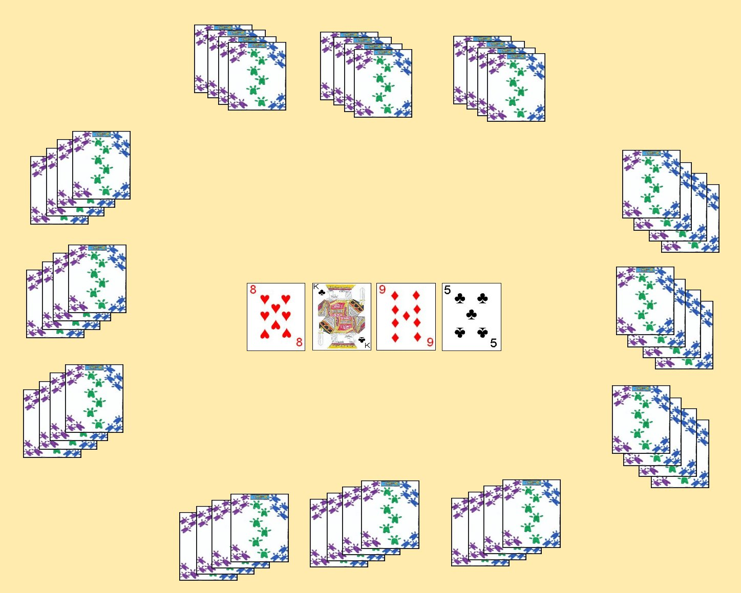 Four Player Layout for the card game Lemon