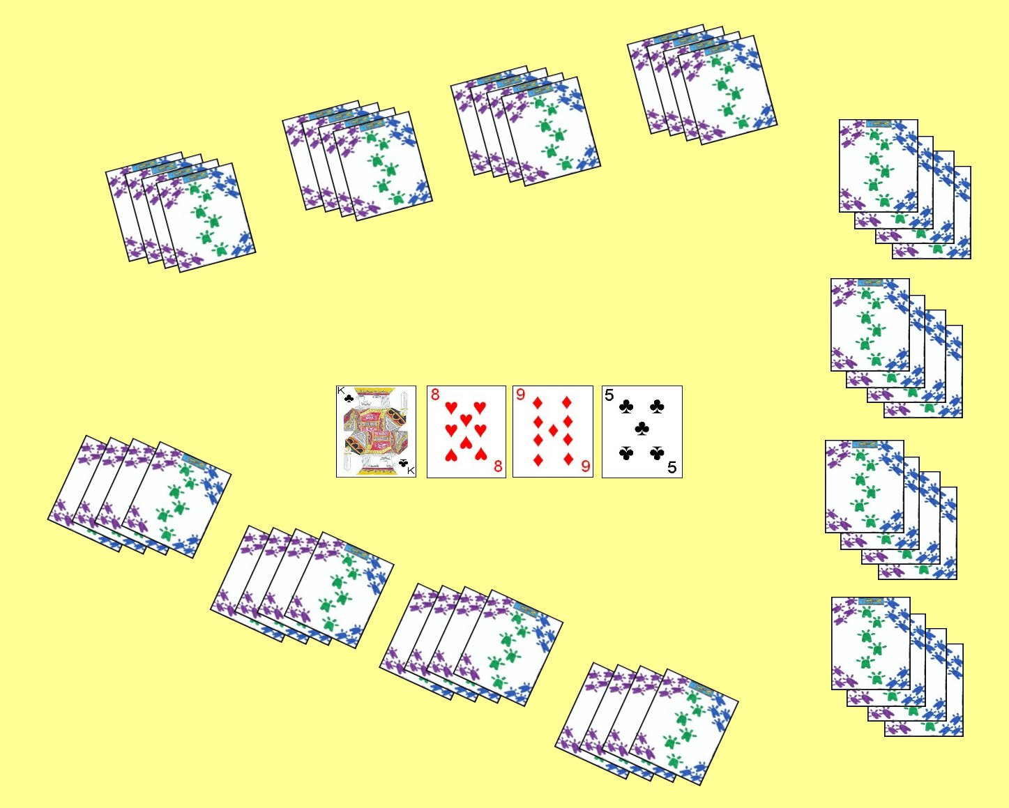 Three Player Layout for the card game Lemon