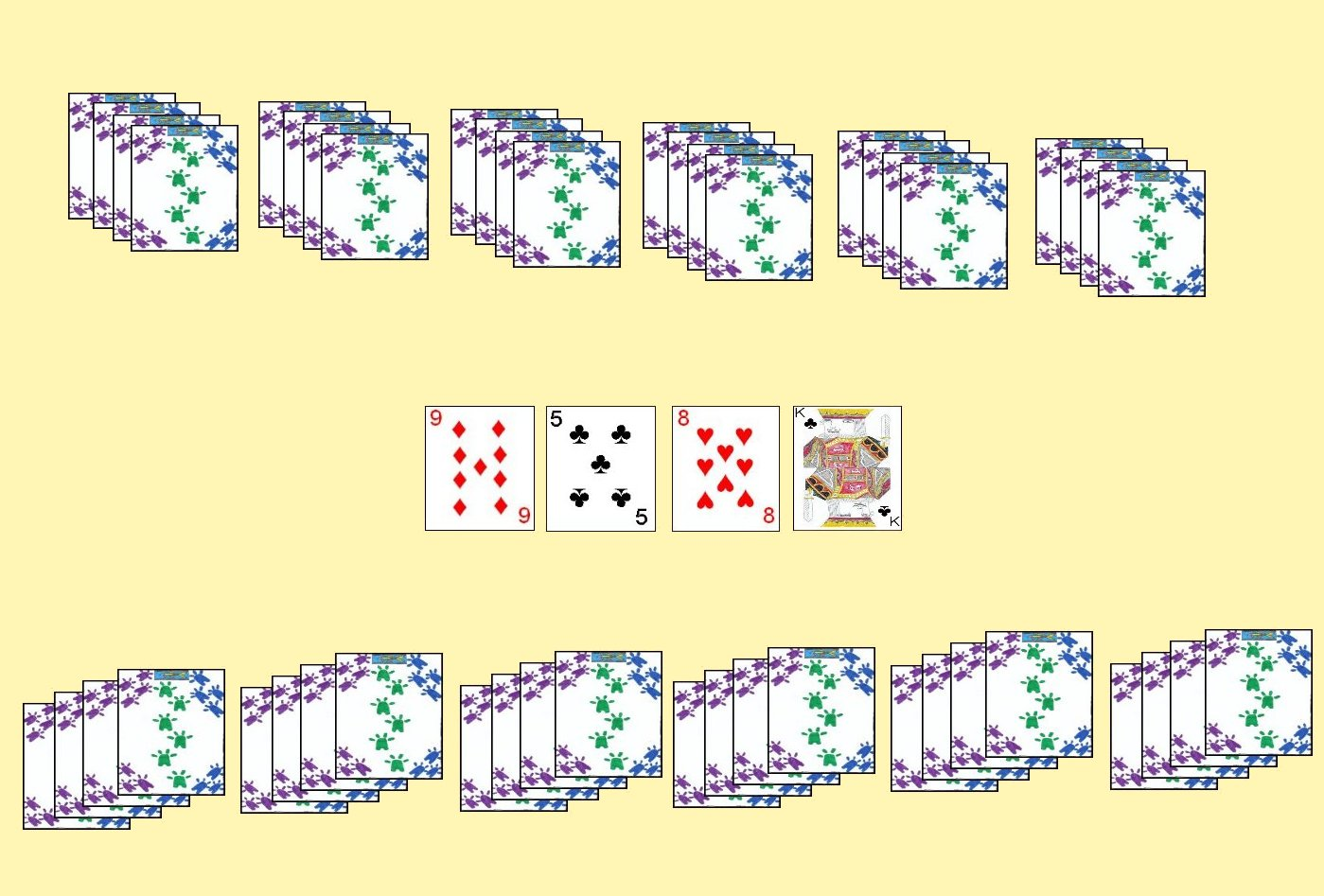 Two Player Layout for the card game Lemon