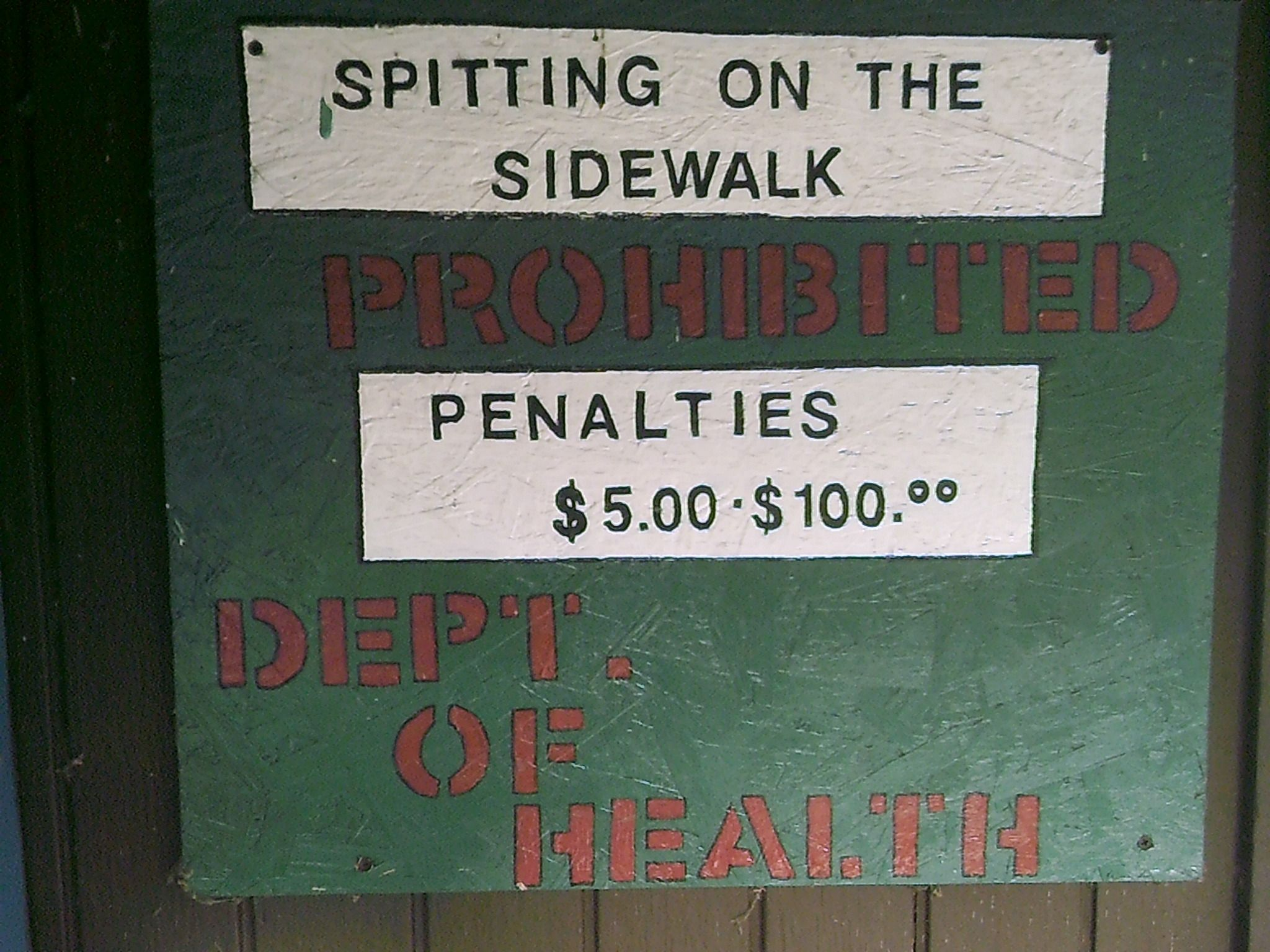 No Spitting on the Sidewalk