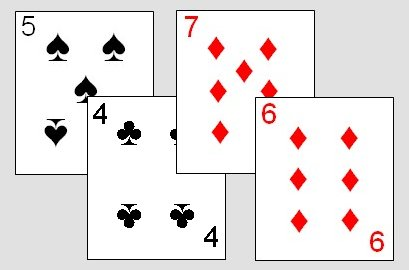 Sequence in the Cribbage variant Noddy