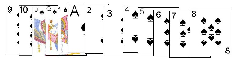 Completed Spade sequence in Play or Pay
