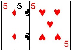 Combination consisting of three cards