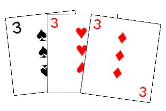 The first combination must contain the three of Spades